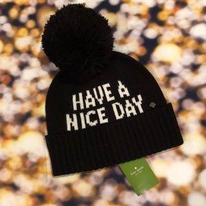 Kate Spade ♠️ NY pom pom hat